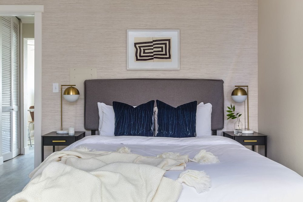 Jordan Interiors // San Diego Bright Boho Bedroom Design