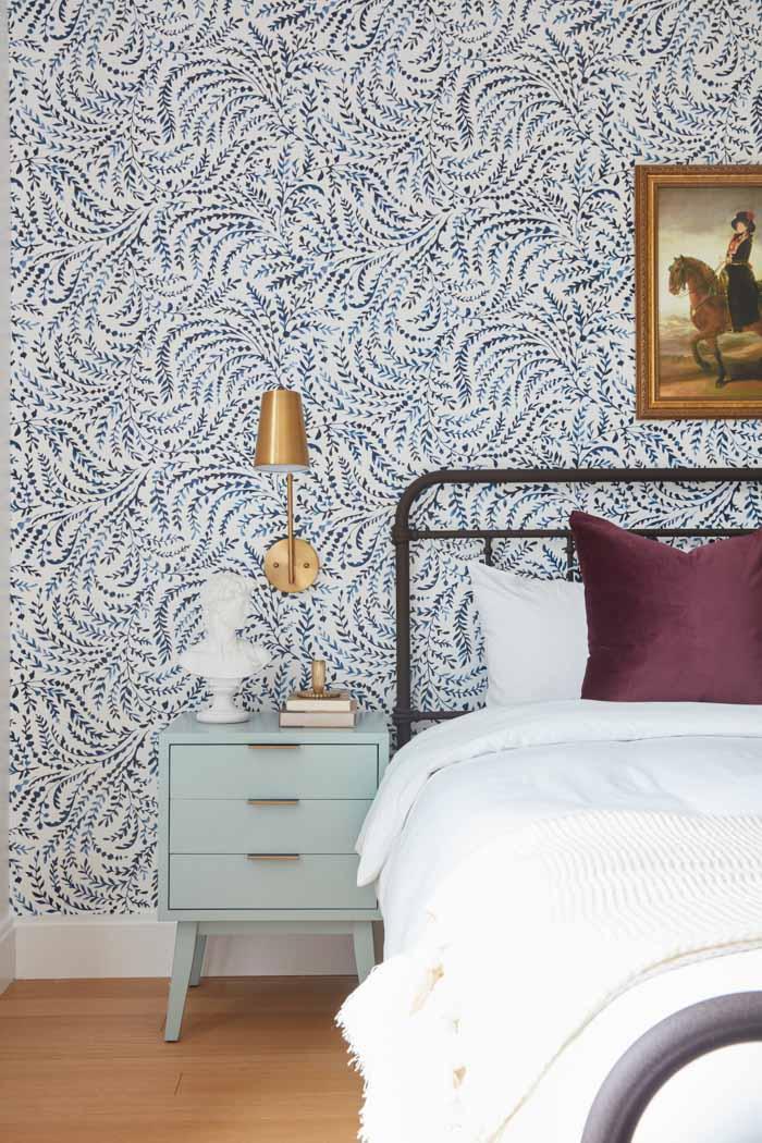 Jordan Interiors // Boston Mission Hill Eclectic Bedroom Design