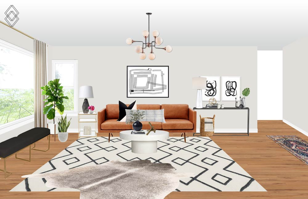 Jordan Interiors //  Modern Eclectic Virtual Interior Design