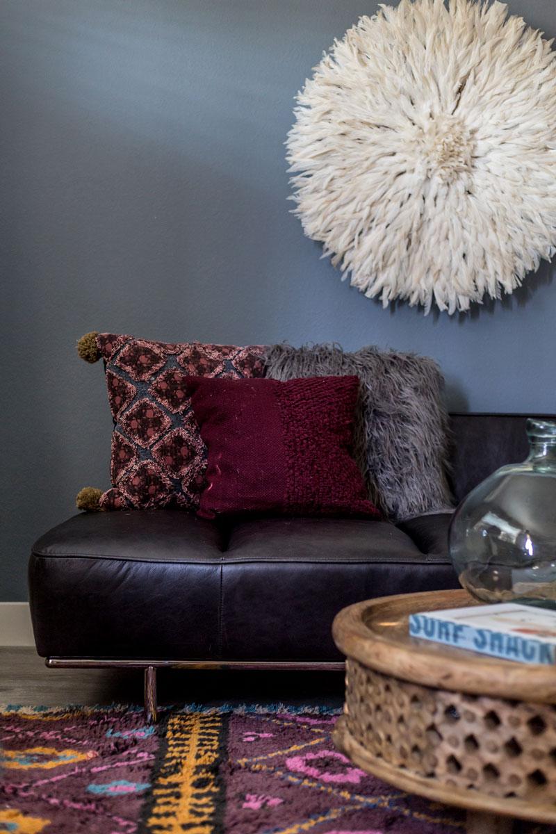 Modern Boho San Diego Living Room //  Jordan Interiors