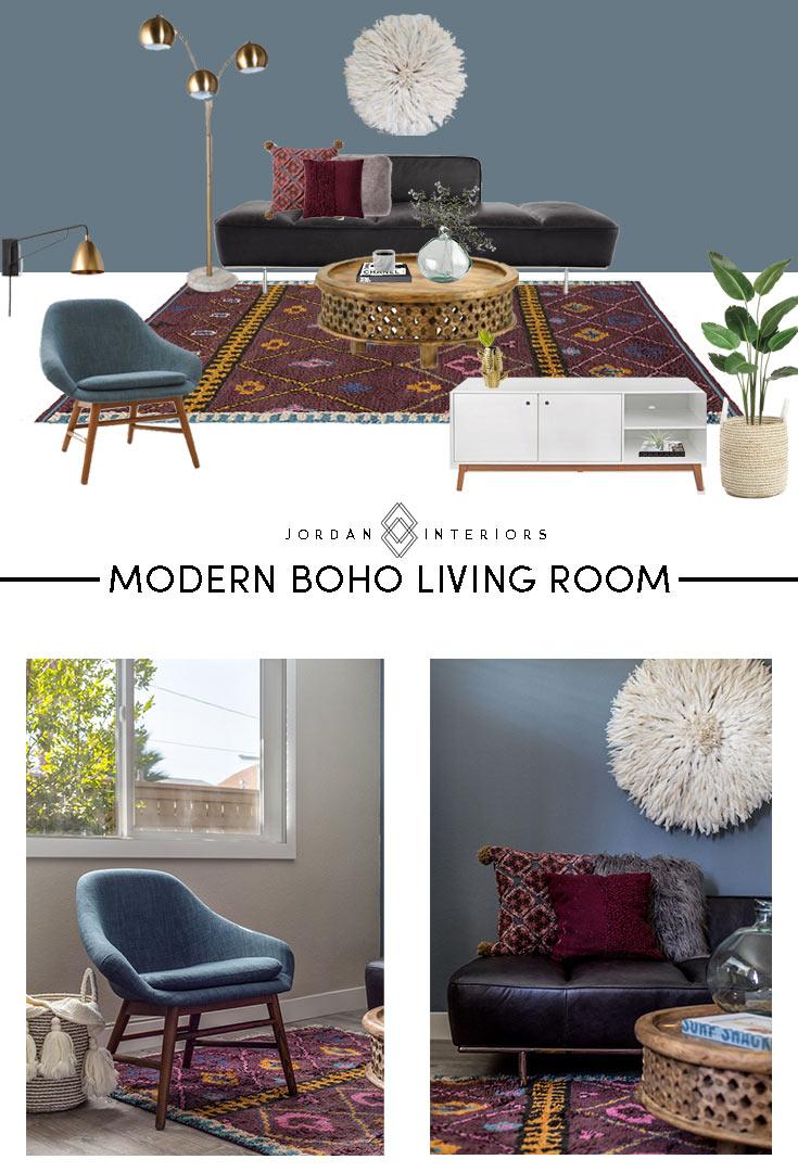 ROOM REVEAL // MODERN BOHO LIVING ROOM — JORDAN INTERIORS