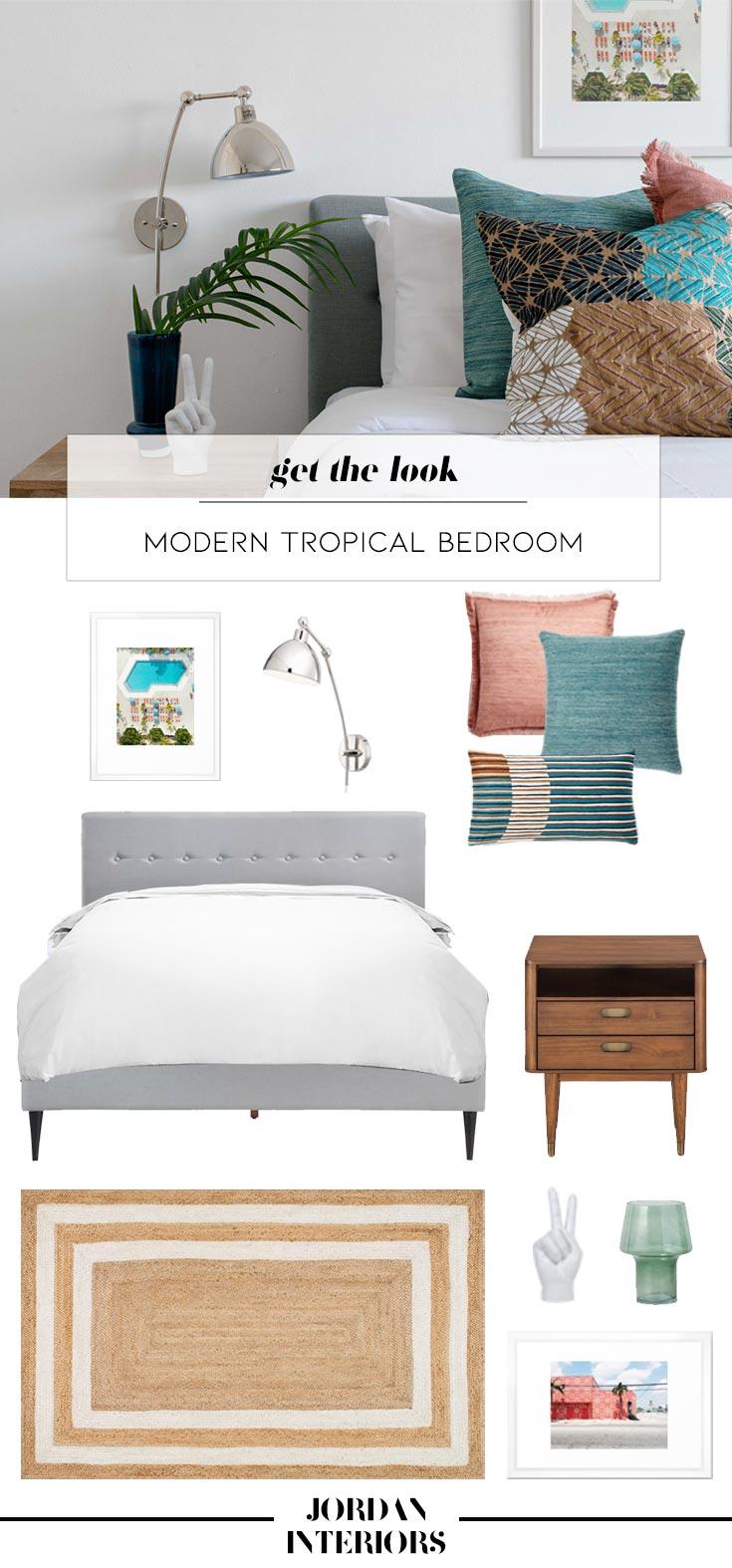 Modern Tropical Miami Bedroom - Get The Look  // Jordan Interiors
