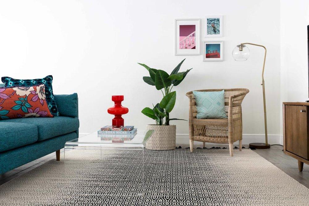 Modern Tropical Miami Living Room - Get The Look  // Jordan Interiors