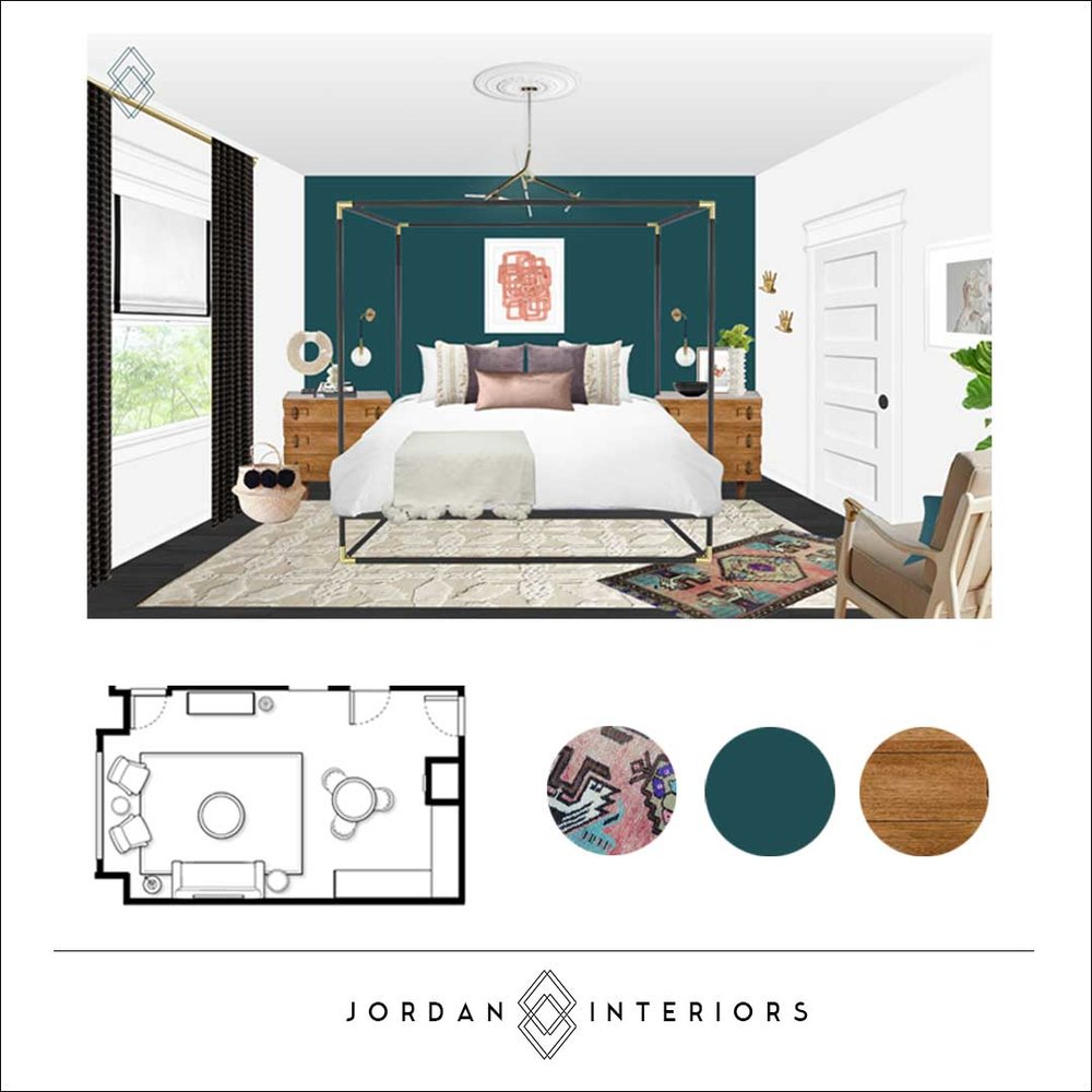 oJordan Interiors // Modern Eclectic Online Interior Design Services