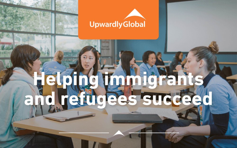 our community Engagement - Upwardly Global, our nonprofit partner for this experience, is focused on eliminating barriers for skilled immigrants and refugees and to integrate this population into the professional U.S. workforce. They are committed to building the United States into a country where skilled immigrants are seamlessly integrated into the professional workforce and the fabric of American life, and are recognized for the value they add to both.