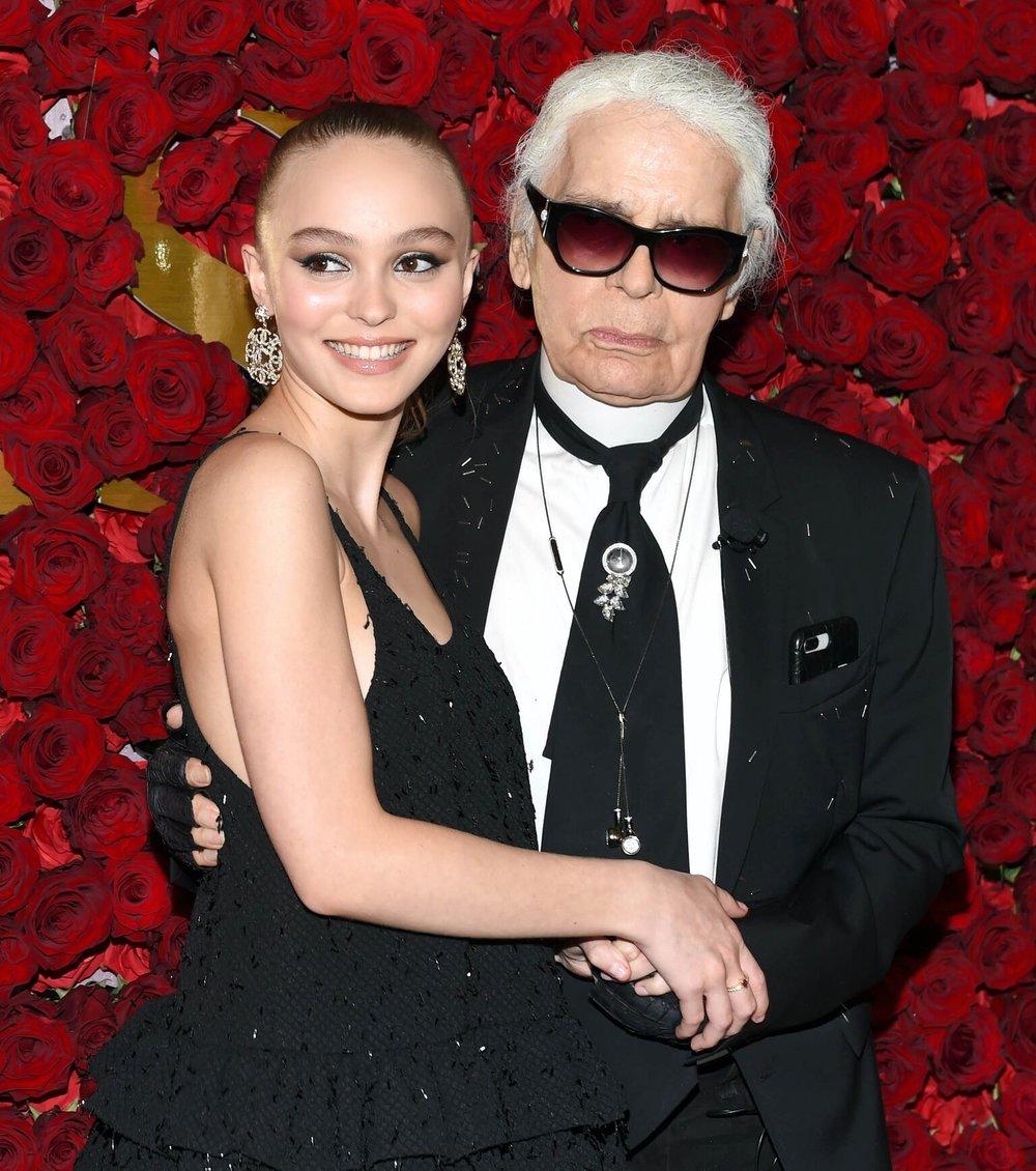 Lily-Rose Depp,Karl Lagerfeld