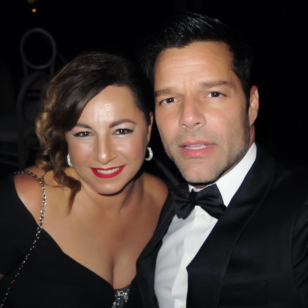 Selma Fonseca and Ricky Martin