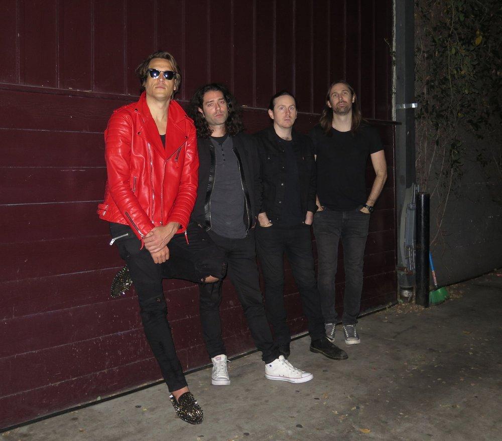 Lucas Asher, Dimitri Farougias,  Eric Scullin,  and Christian Hogan.Photo by Selma Fonseca