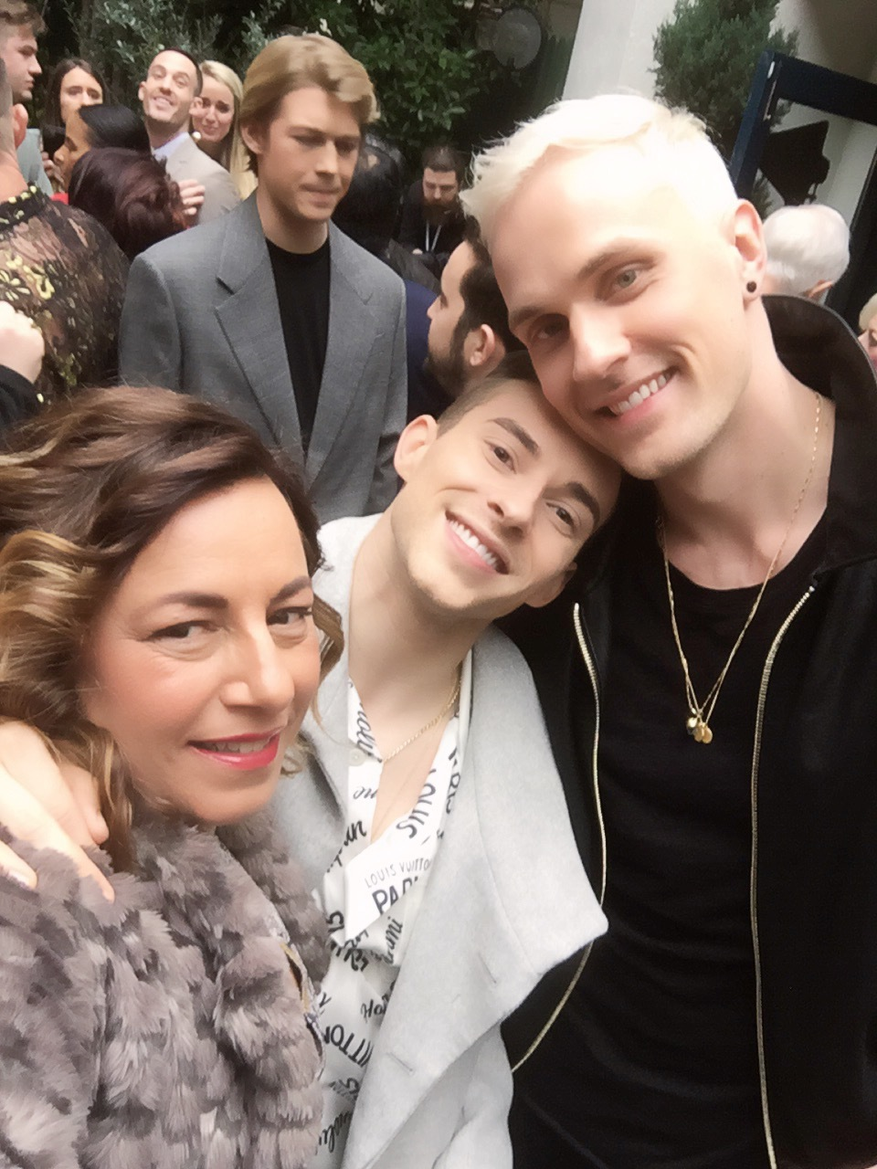 Selma Fonseca with Adam Rippon and Jussi-Pekka Kajaala
