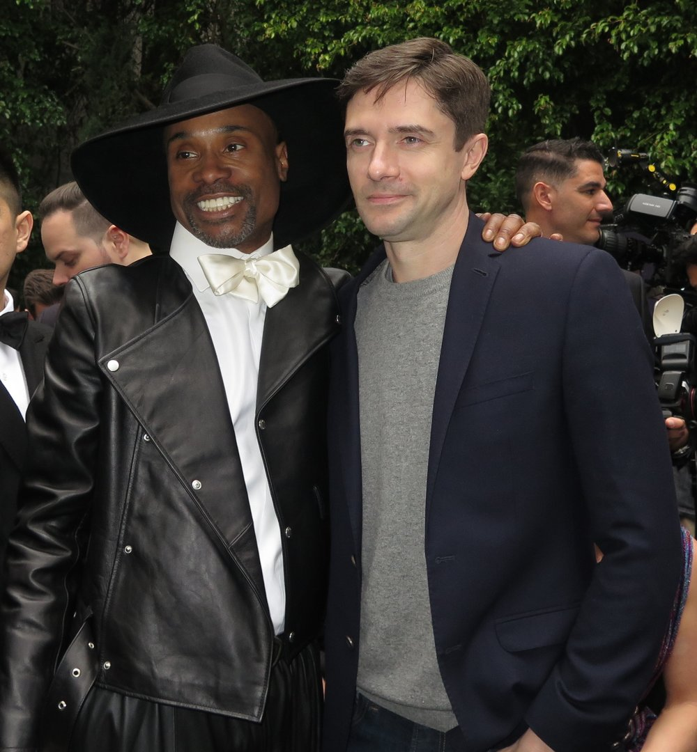 Billy Porter and Topher Grace
