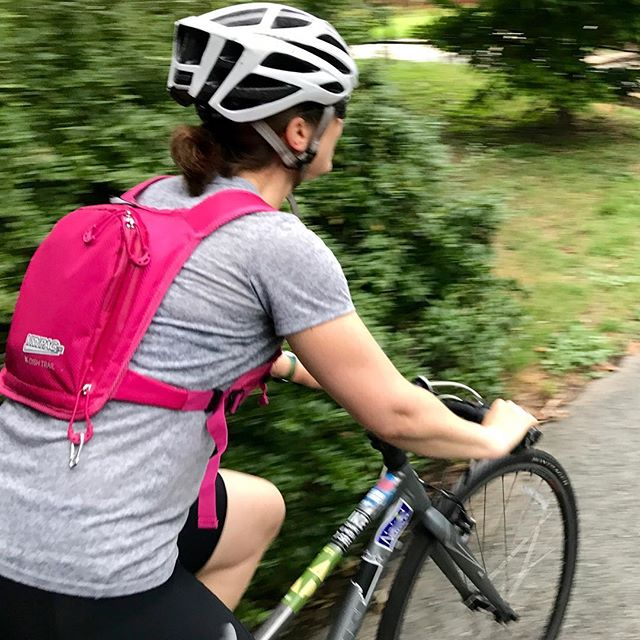 Vrypac is light and flat on your back when cycling. #vrypac #babybackpack #cycling #cycle #bike #biking #bikegear