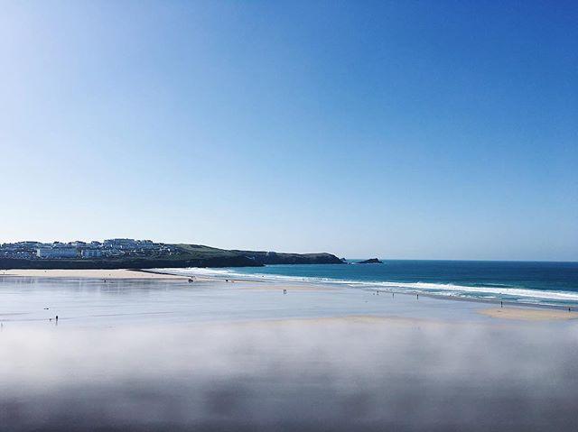 Fistral #fistralbeach #newquay #sea #sand #beach #ocean #coast #horizon #surf #waves #blue #autumn #cornwall