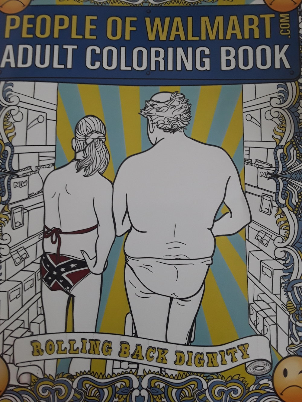 People Of Walmart Adult Coloring Book Pumkinfish