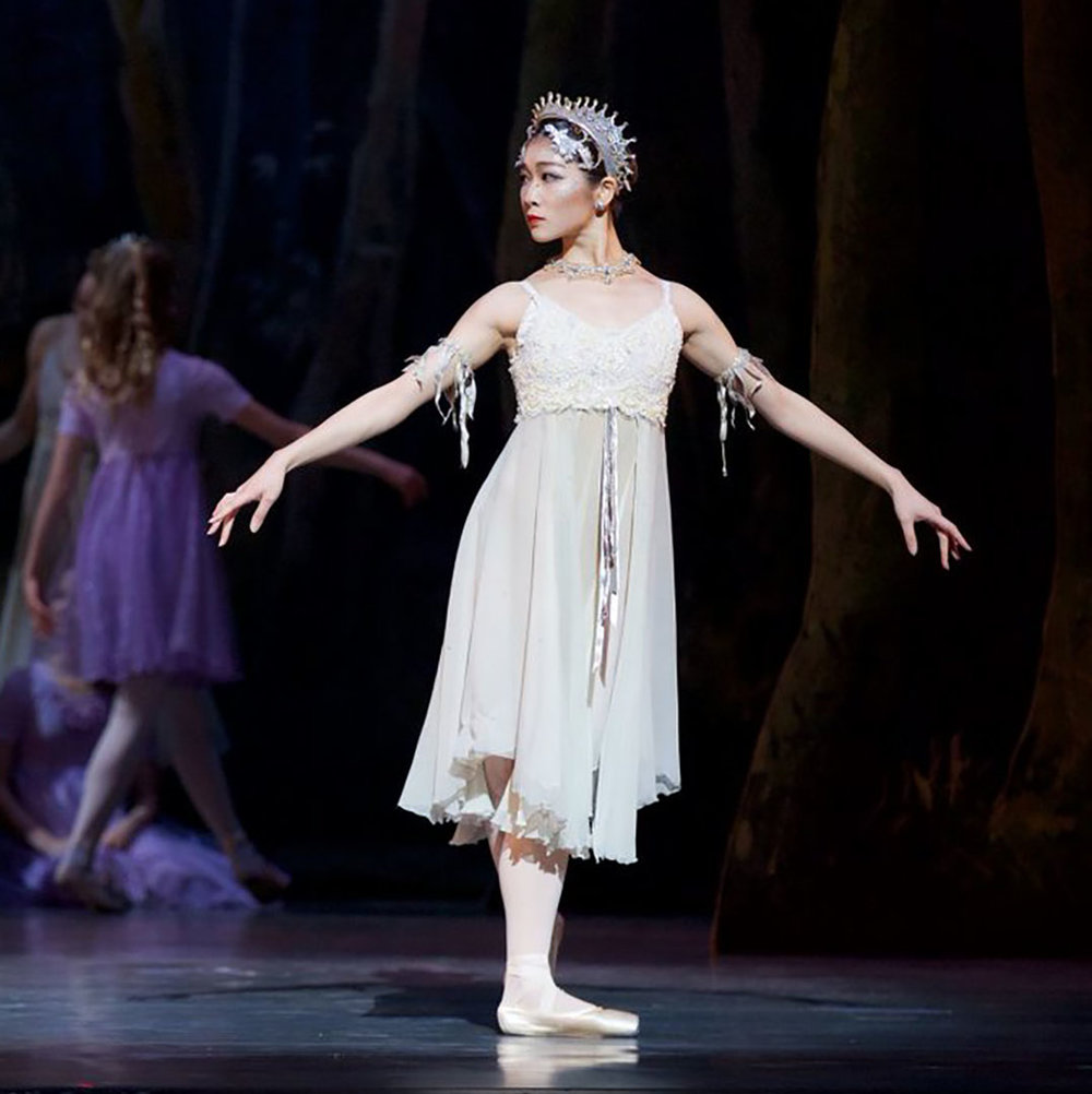 Sayuri Nakanii in Cinderella   Our choreographer cast the season fairies in  #Cinderella  by asking dancers to add an element of daring to these solos He found in  #apprentice  Sayuri Nakanii a fearless performer.  #yeg   #yegdance   #ballet