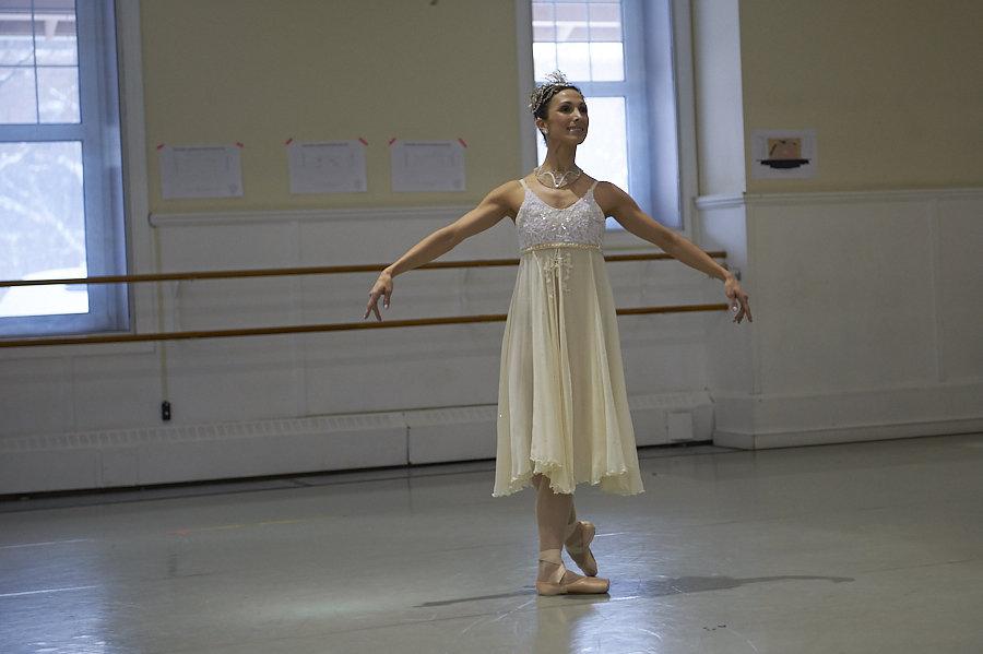 Alberta Ballet dancer Hayna Gutierrez in a rehearsal for the 2018 performance of Cinderella