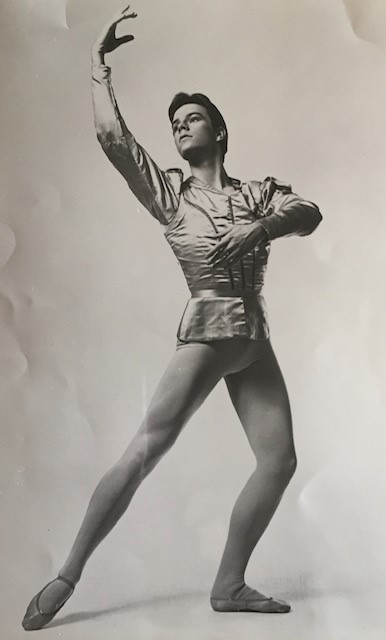 Bruce Wells as a dancer with the New York City Ballet