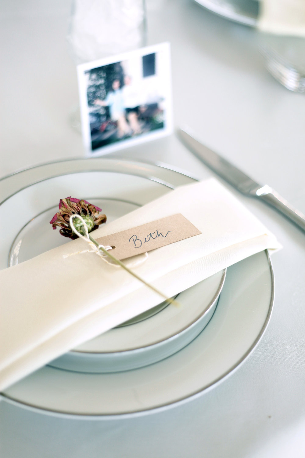 Dried Flower Place Settings