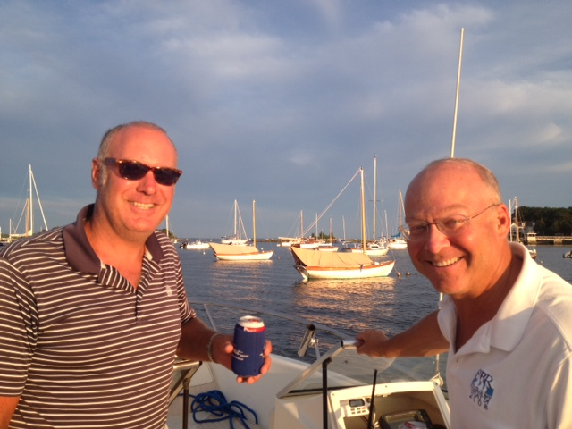 Mark and Andy Godfrey enjoying time together in Marion, MA