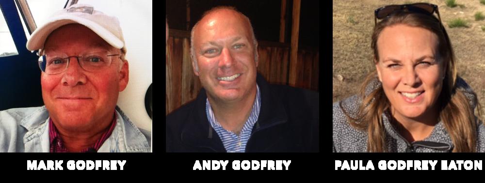 Cast of 3 Days 2 Nights documentary film: Mark Godfrey, Andy Godfrey, Paula Godfrey