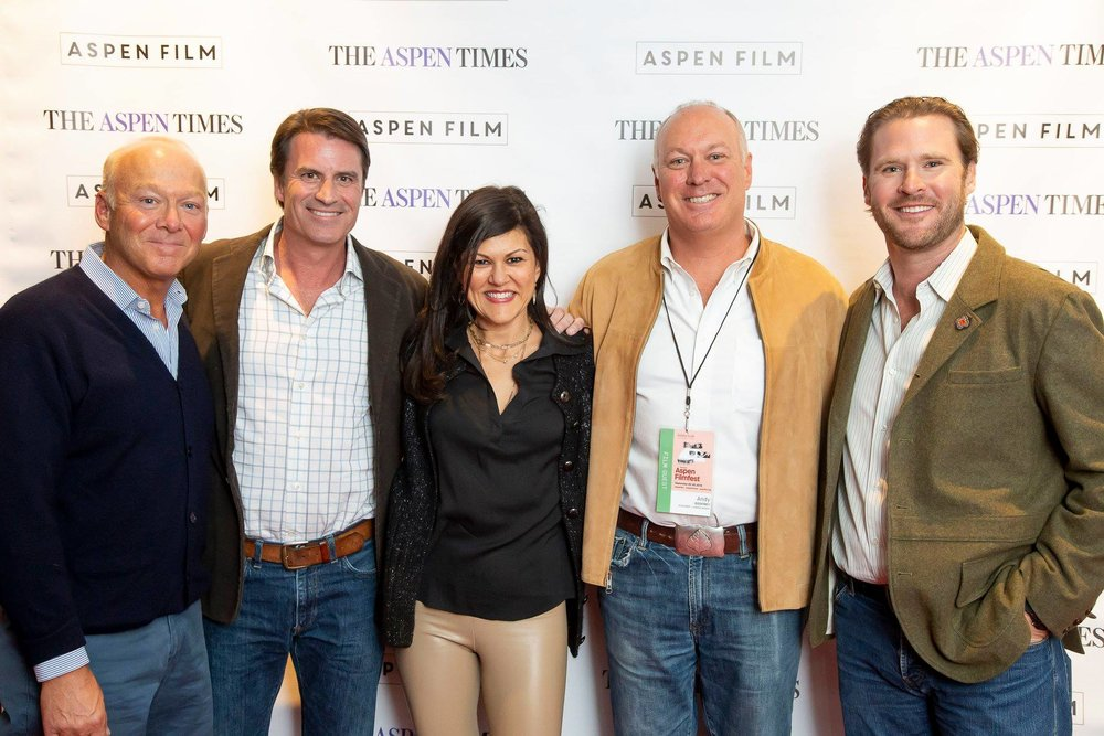 Mark, John and Andy with Aspen Film's Susan Wrubel and Ryan Brooks