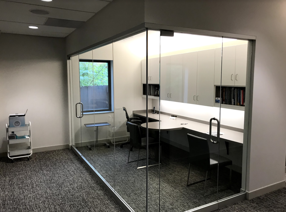 Dental Office in KC - Kaizen IT Group designed and implemented all of the Audio/Visual components of the newly constructed dental office located in Kansas City. This project included custom ceiling mounted TVs at each patient operatory station, audio distribution throughout the entire practice and more. Project was completed in September 2017.