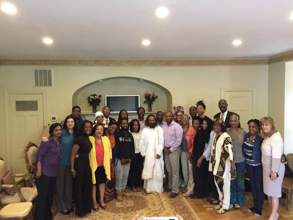 Figure        SEQ Figure \* ARABIC     1      Sri Sri Ravi Shankar & Baltimore Community Leaders 4.30.15