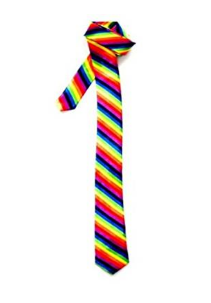 The quintessential rainbow tie. $3.62