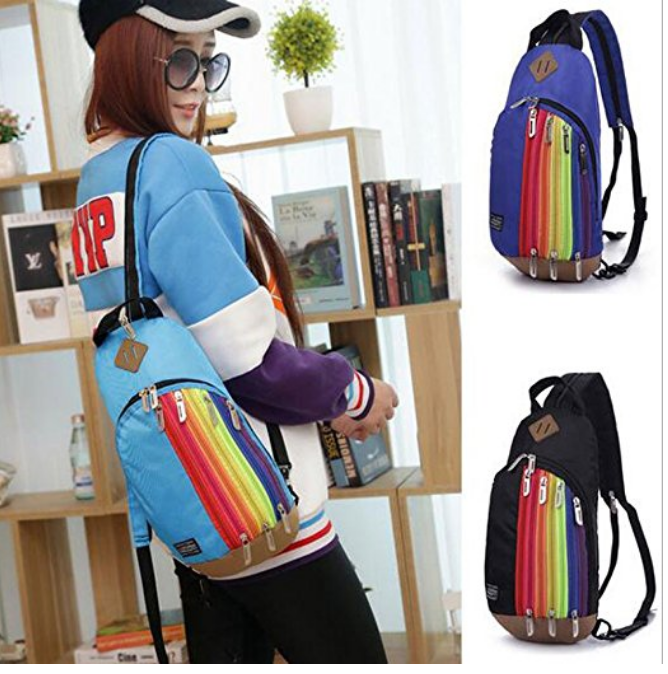 Rainbow sling bag backpack $16.22