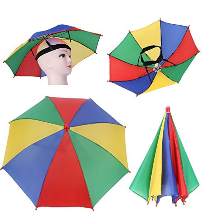 Rainbow Umbrella Hat. $13.99