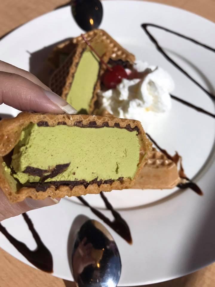 Ootoya Sushi Matcha Ice Cream Sandwich