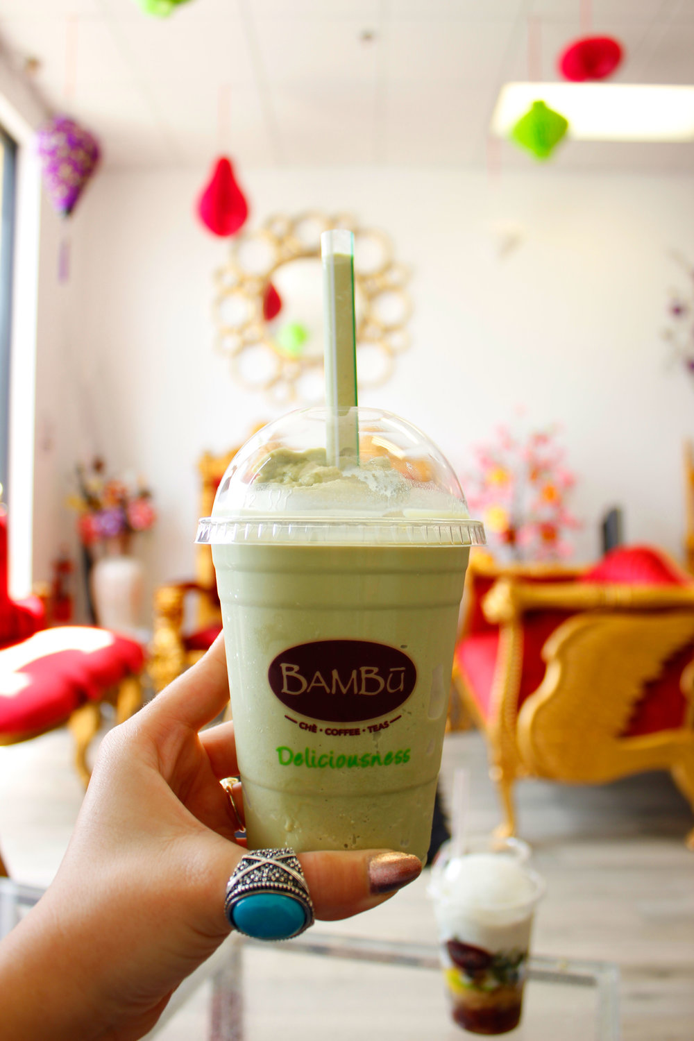 Bambu Matcha Milk Slush