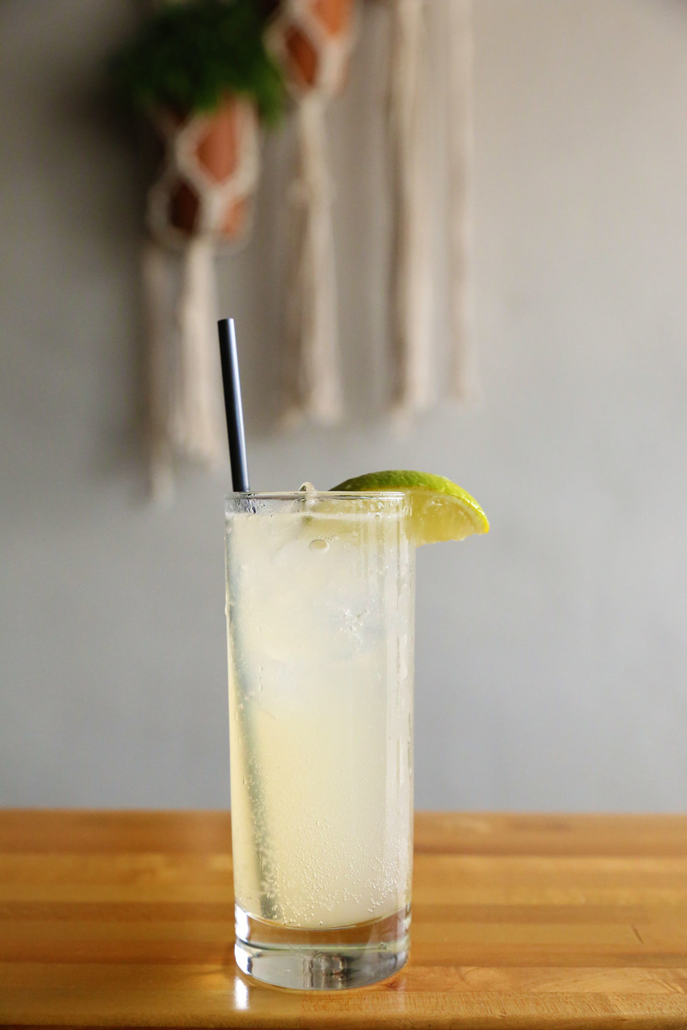 Paloma - Tequila, lime salt, grapefruit soda. Light, refreshing, just a hint of sweetness.