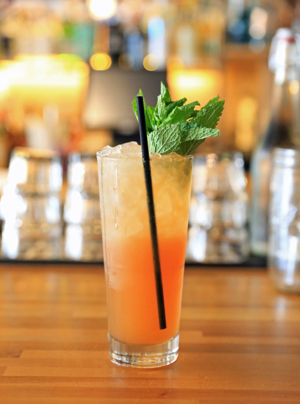 Zombie - Puerto Rican Rum, cinnamon, grenadine, grapefruit, herb saint bitters. One of the most potent drinks on the menu.