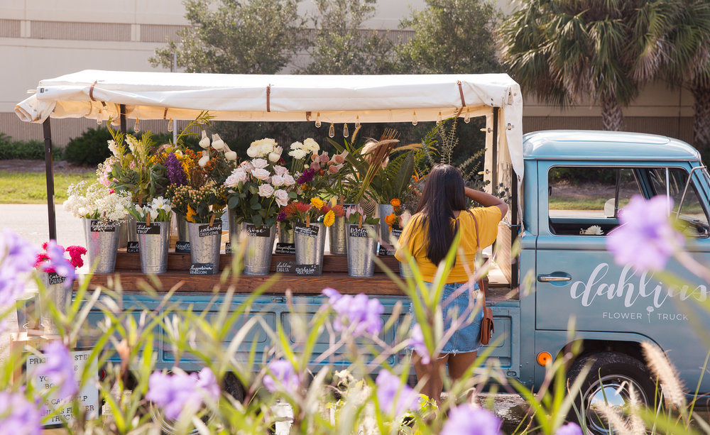 Dahlias Flower Truck