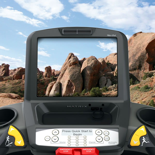 Virtual Active allowed users to virtually run through real environments while on the treadmill.
