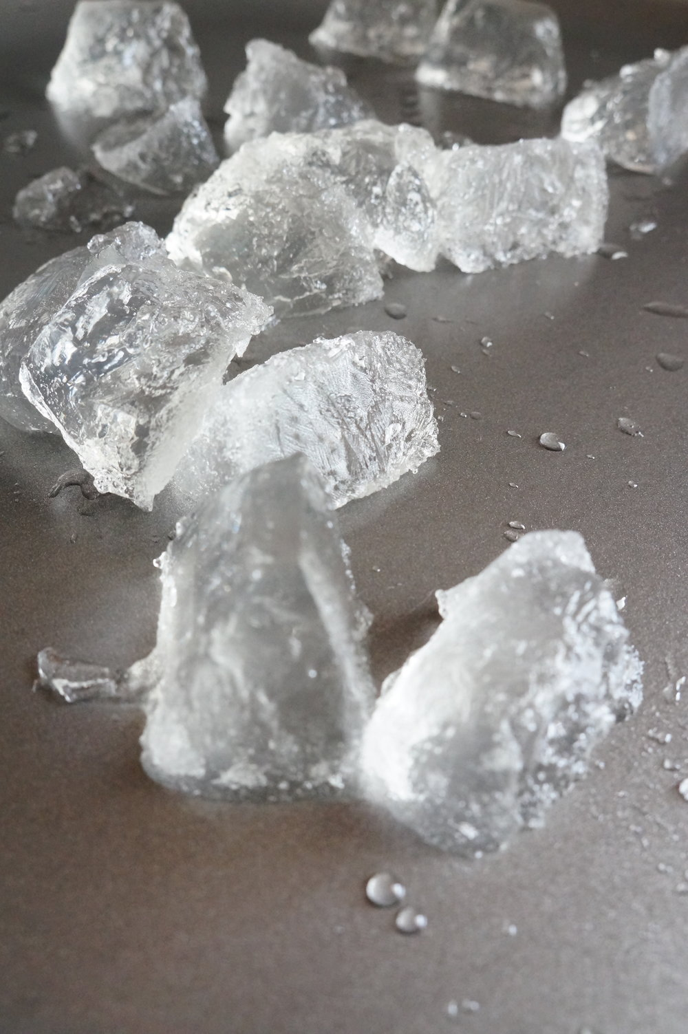 diy fake ice, jello ice, flavored clear jello