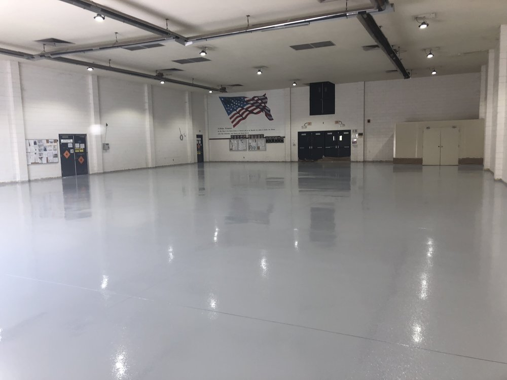 After Application of Floor Resin