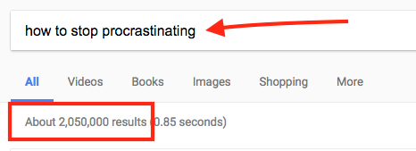 how to stop procrastinating google search