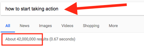 how to start taking action google search results