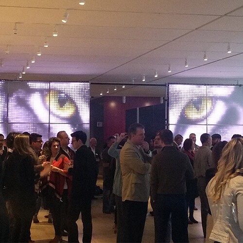 RGB Light's custom-made FlexiFlex panels display mysterious tiger eyes for this special event. http://ow.ly/D24g30hzdm8