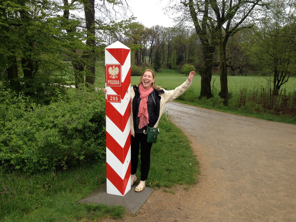 Hello from Poland! I think this is the first time I walked across a border.