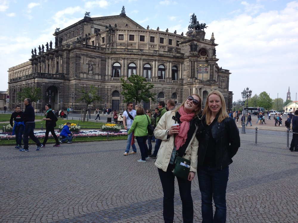 We drove to Dresden, where Emma studied. For two days toward the end of World War II, the Allies firebombed this art city. Kurt Vonnegut wrote  Slaughterhouse-Five based on his experience as a prisoner of war here. Dresden was still undergoing post-war reconstruction only a few years ago.