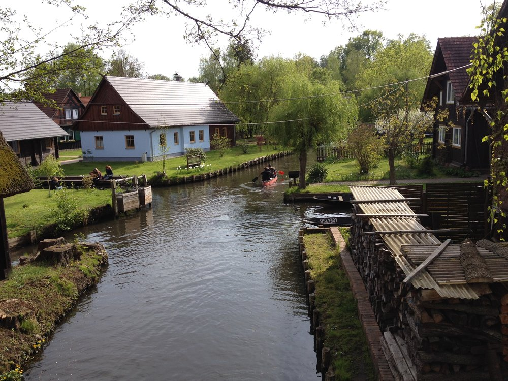 """On my last day, we stopped in Spreewald, Germany's """"Little Venice,""""as famous for its pickles as for its waterways."""