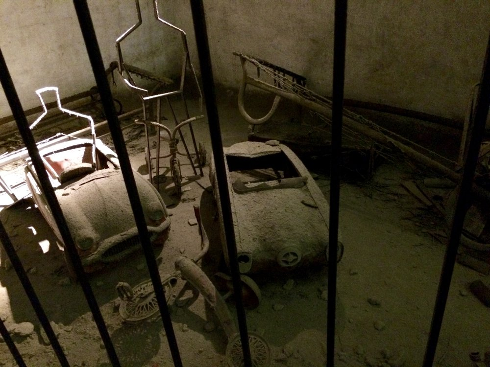 Creepy remnants from World War II underground in Naples.