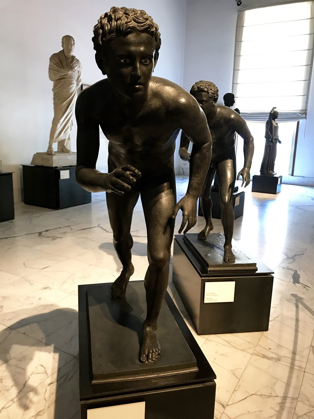 Ancient Statues of Runners from Villa dei Papiri.