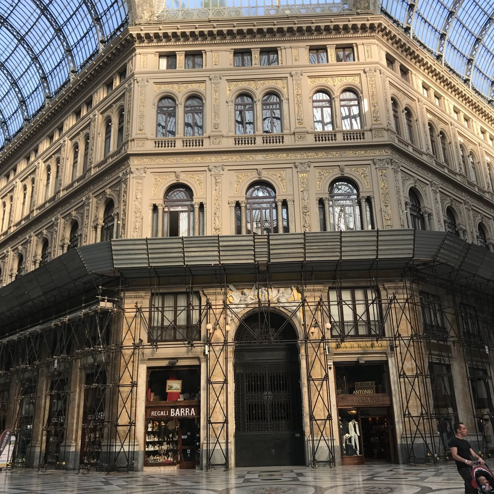 Galleria Umberto I, a shopping gallery similar to the one in Milan but less posh.
