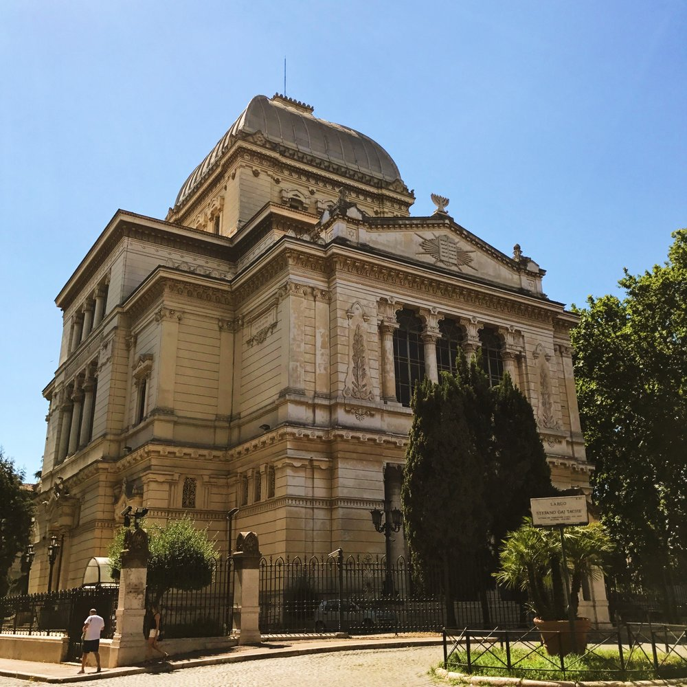 The Great Synagogue of Rome, where the Jewish people brought all their gold in Il Moretto's true story.