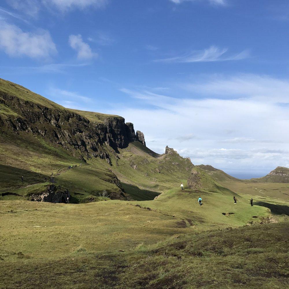 Take a walk through the cliffs of  The Quiraing .