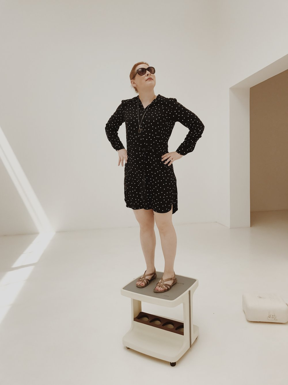 In case you're wondering what the hell is going on here, the Austria pavilion at the 2017 Venice Biennale had an interactive exhibit. This is by far the least ridiculous photo of me taken here.