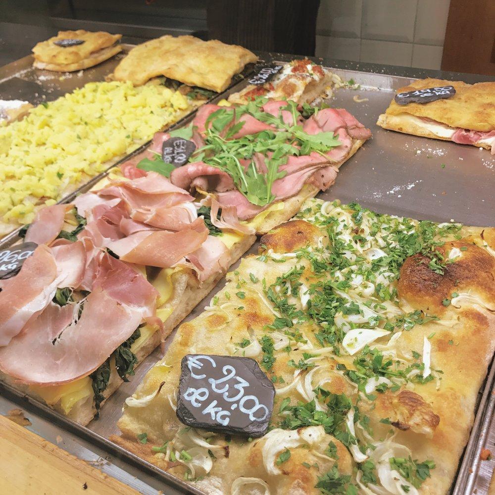 Pizza al taglio at Pizzarium.